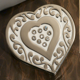 Ornate Handbag holder favor heart design