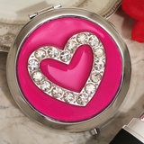 Stylish Compact mirror favor heart design