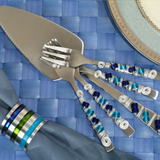 Murano collection Cake server and dessert forks set