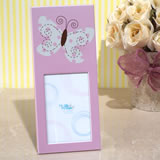 Butterfly design pink photo frame