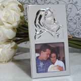 Madonna and child silver photo frame