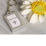Memorable Moments Cross design Keychain Photo Frame Favors
