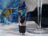 Murano Art Deco Collection Elegant Swirl Design Wine Pourer