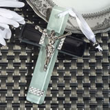 Murano style cross collection black and white design