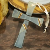 Murano art deco cross collection gold and white design