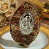 Murano art deco collection standing icon brown and silver wave design