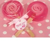 Sweet treats pink lollipop soap favor.