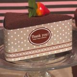 Sweet Treats Collection chocolate cheesecake towel favor