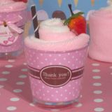 Sweet Treats Collection Strawberry Sundae towel favor