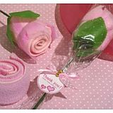 Sweet Treats Collection Pink rose towel favor