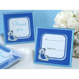 Adorable blue teddy bear glass photo frame