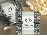 A Stylish Damask and Fleur de lis photo coaster