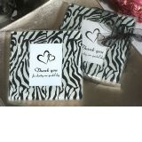 Zebra print photo coaster