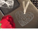 Mark it with memories Ornate heart design bookmark