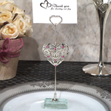 Classic Ornate Heart Silver Place Card Holder