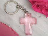 Blessed events Pink Cross keychain