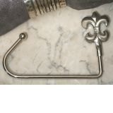 Silver chrome Fleur de lis bag holder