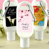 Sunscreen Favors with Carabiner (SPF 30): Flower Designs