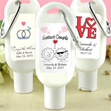 Sunscreen Favors with Carabiner (SPF 30): Heart Designs