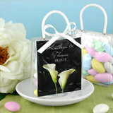 Personalized Mini Gift Tote Favor: Flower Designs