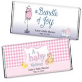 <b>Girls</b> Baby Shower 1.5 oz Chocolates
