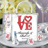 Hershey's Kisses Mini Gift Tote Favors: Heart Designs