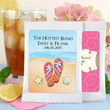Beach Theme Iced Tea Favors