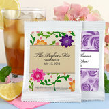 Flower Themed Iced Tea Wedding Favors
