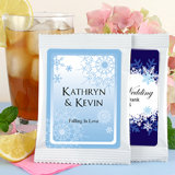 Iced Tea Wedding Favors: Winter Theme