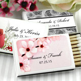 Personalized Matches - Flower Design - Set of 50 (White Box)