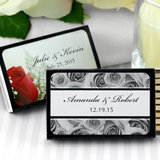 Personalized Matches - Set of 50 (Black Box): Flower Designs