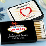 Personalized Matches - Set of 50 (Black Box): Unique Designs