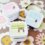 Baby Animals Personalized Square Candle Tins