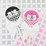 Mod Monogram Personalized Lollipop Favors