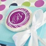 Something Sweet Monogram Personalized Lollipop Favors