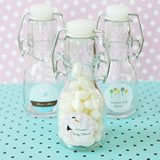 Elite Design Baby Shower Mini Glass Bottles
