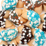 Sugar Snowflakes Gourmet Fortune Cookies- INDIVIDUALLY WRAPPED