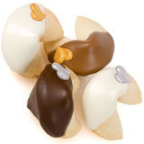 "Silver & Gold Hearts Gourmet Fortune Cookies-Individually Wrapped -""Bulk"""