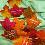 Personalized Fall Leaves (200 per bag) - Nice Price Favors