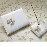 """Lillian Rose"" - Sea Shell Guest Book & Pen Set"