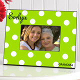 Personalized Polka Dots Picture Frame (6 Colors Available)