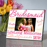 Personalized Kaleidoscope Bridesmaid Picture Frame (7 Colors Available)