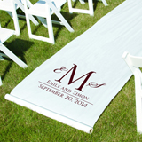 Personalized Aisle Runner - Monogram