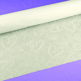 """Linked at the Heart"" Aisle Runner - Ivory"