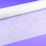 """Linked at the Heart"" Aisle Runner - White"