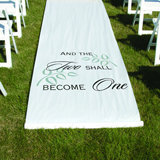 """Two Shall Become One"" Aisle Runner - White"