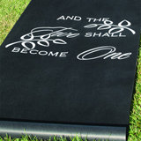 """Two Shall Become One"" Aisle Runner - Black"