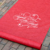 Happily Ever After Aisle Runner - Red