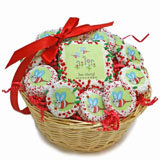 Bee Merry Holiday Cookie Basket -12 Oreos & A Sugar Cookie Card