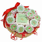 Claus-trophobia Holiday Cookie Basket -12 Oreos & A Sugar Cookie Card
